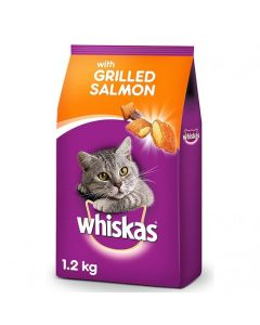 Whiskas Grilled Salmon Steak Flavour For Adult Cat 1.2 kg