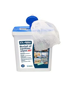 Clark Alcohol Disinfecting and Sanitizing Wipes Bucket - 375 Wipes
